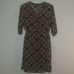 Mossimo BoHo 3 Quarter Sleeve Chiffon Dress